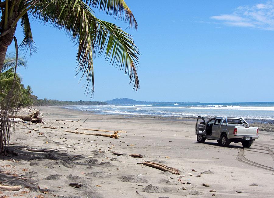 Der Strand von Burica als wichtigster Verkehrsweg.