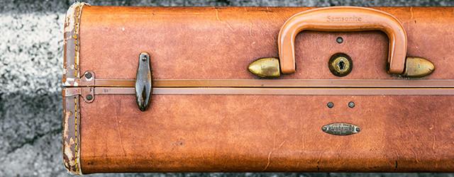 Minimalistisch Koffer packen