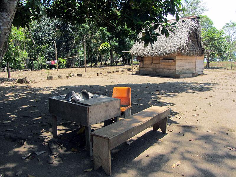 Ein Wohnhaus in Burica