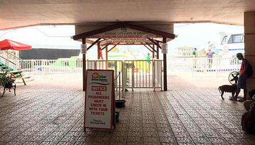 Terminal der Fähre von Belize Water Taxi in Belize City