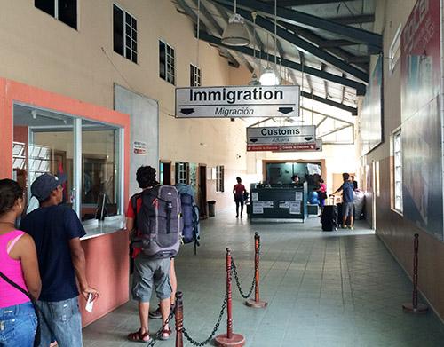 Grenzübergang zwischen Guatemala und Belize