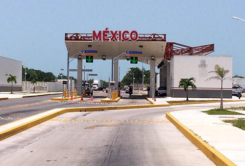 Grenzübergang von Belize nach Mexiko