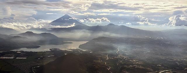 Blick auf die Vulkane Guatemalas