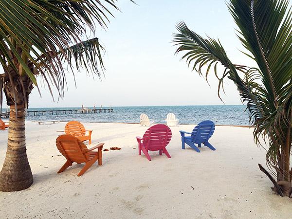 Sonne, Strand und Meer auf Caye Caulker