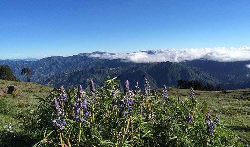Traumhafte Aussicht vom Vulkan Tajumulco