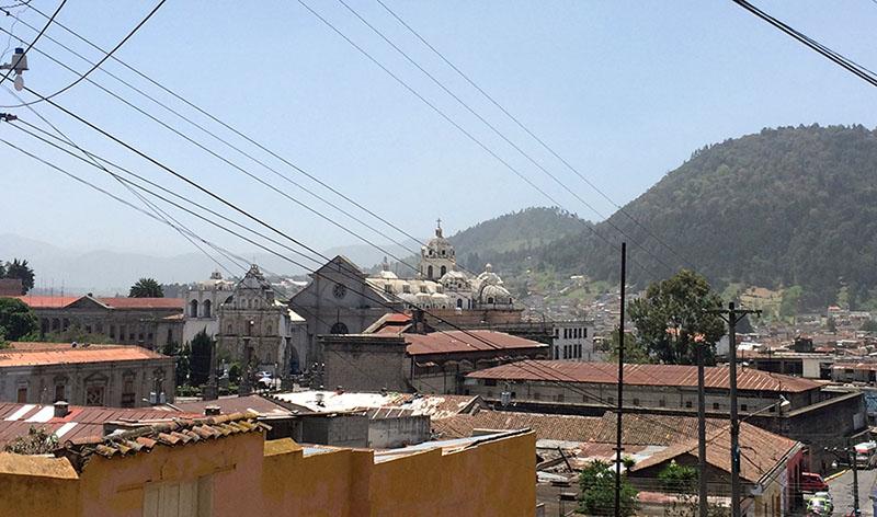 Blick über die Dächer von Quetzaltenango
