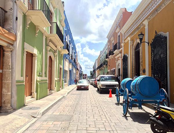 Die bunten Straßen von Campeche