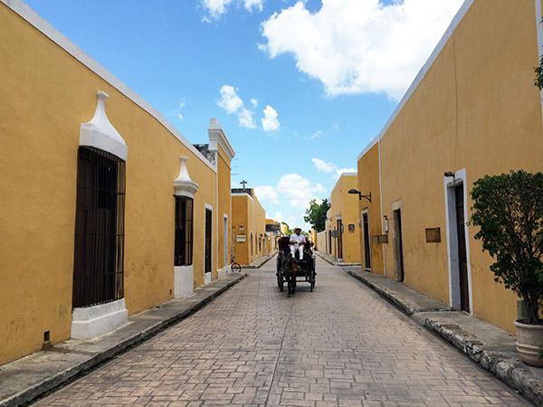 Die Straßen von Izamal
