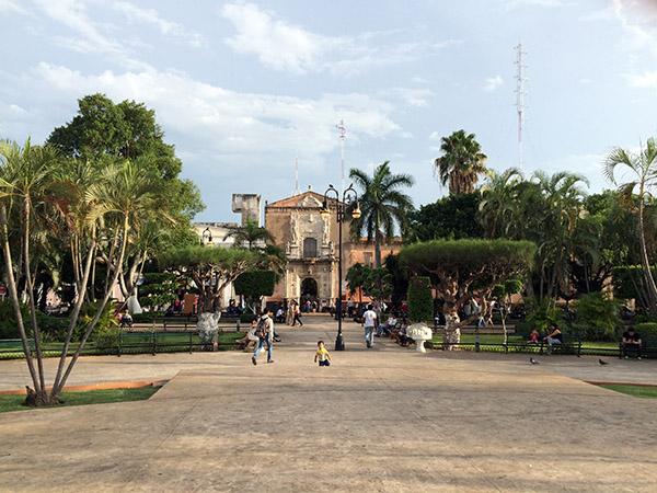 Der Hauptplatz von Mérida