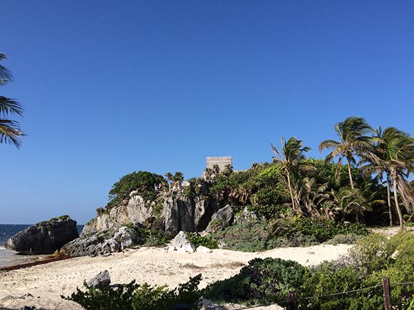 Maya Ruinen am Strand von Tulum