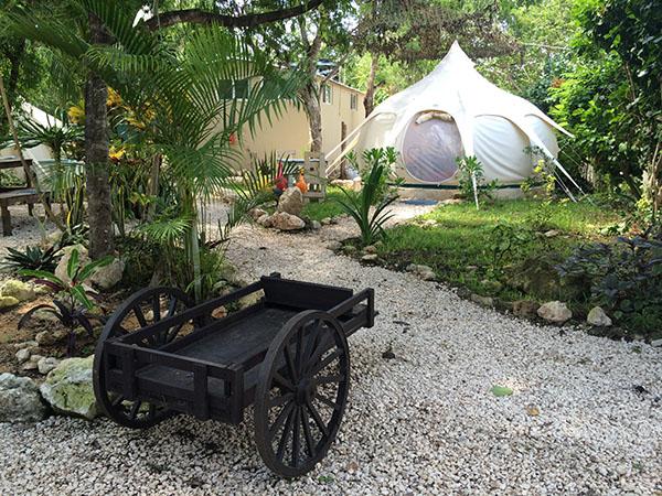 Gemütliche Zelte im Harmony Glamping von Tulum