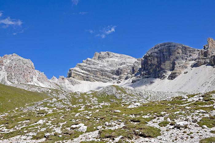 Der Piz Duleda im Grödental  in Südtirol