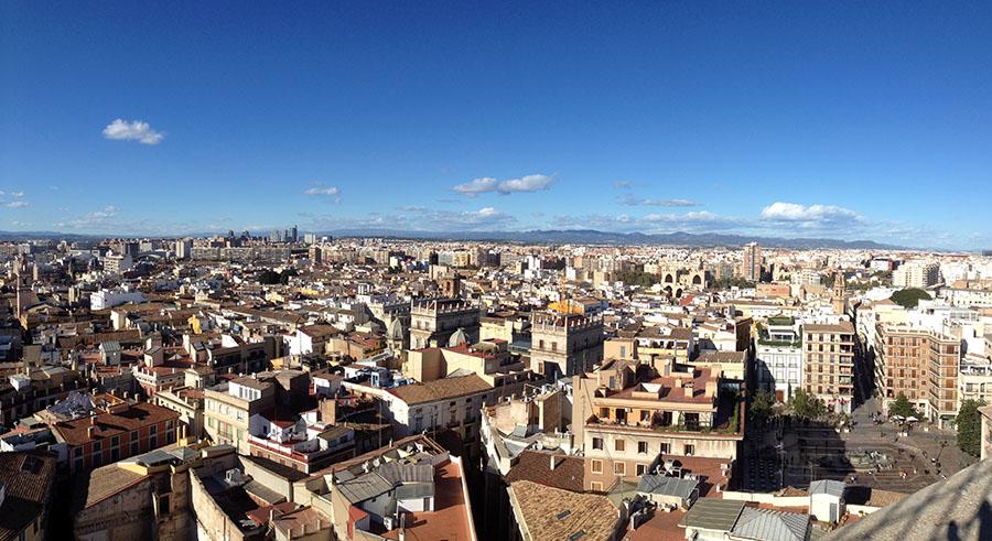Ausblick vom Torre Del Micalet im Herzen von Valencia