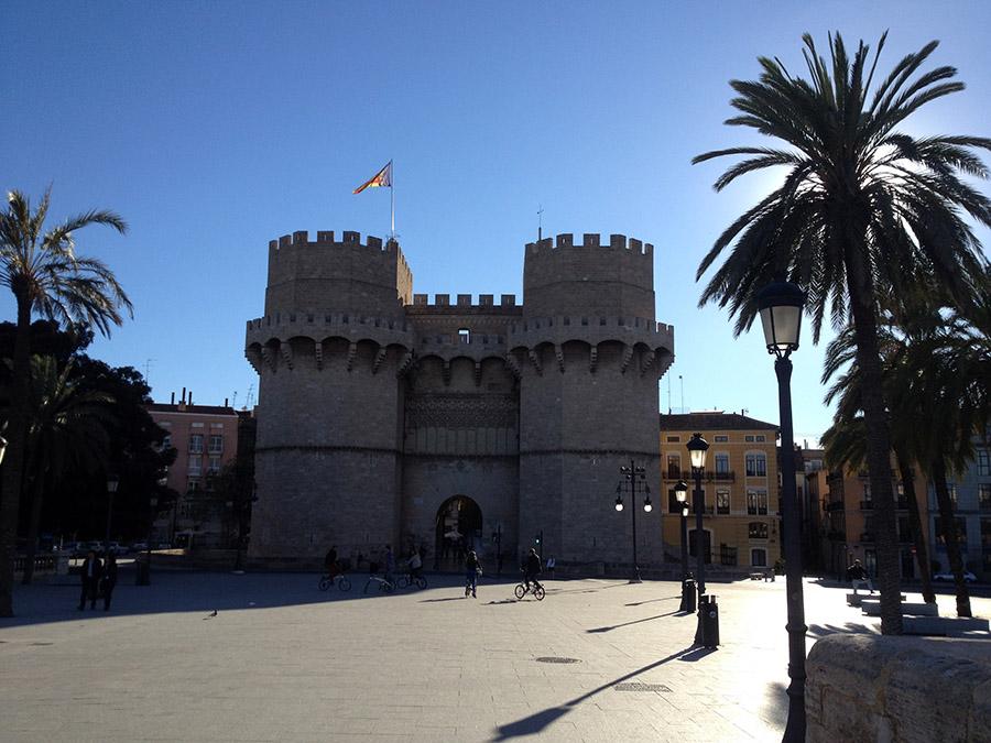 Die Torres De Serranos in Valencia