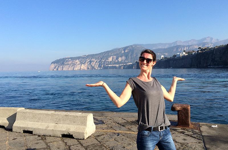 Sorrento an der amalfitanischen Küste Italiens