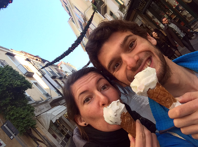 Leckeres Eis aus der Gelateria Primavera in Sorrento