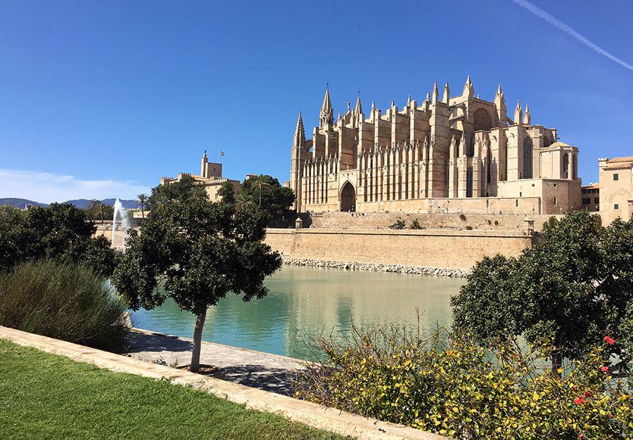Die beeindruckende Kathedrale von Palma, Mallorca