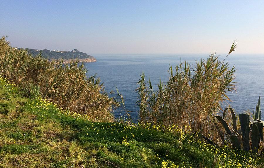 Procida - Ausblick vom Park an der Via Alcide de Gasperi