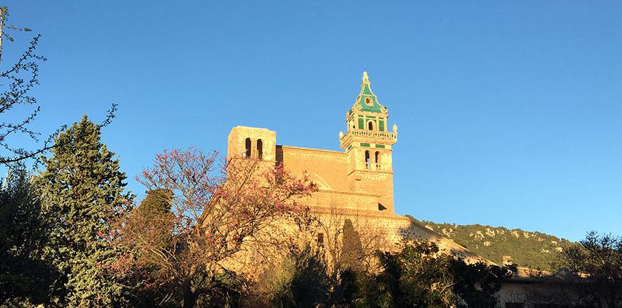 "Das artäuserkloster ""Cartuja de Valldemossa"" in Valldemossa, Mallorca"