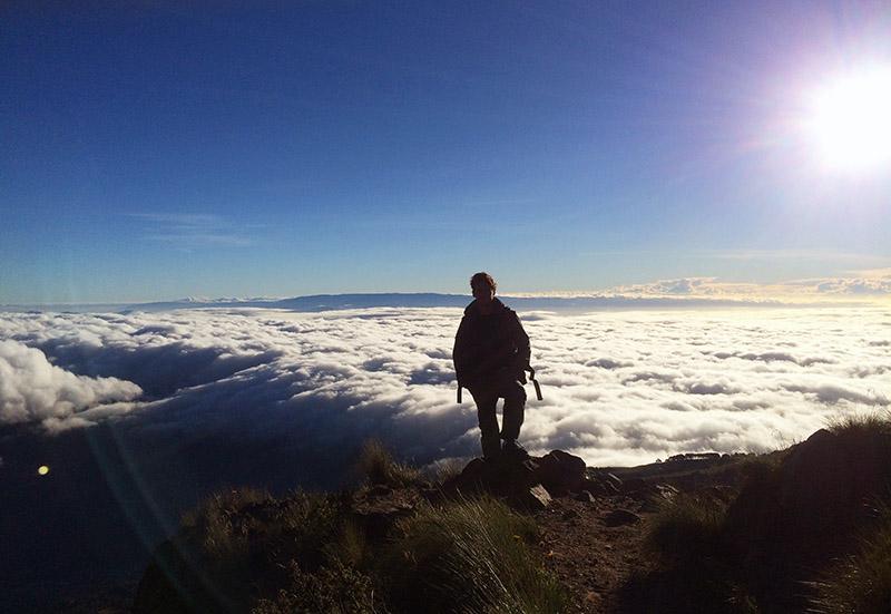 Abstieg vom Tajumulco, Guatemala nach dem Sonnenaufgang