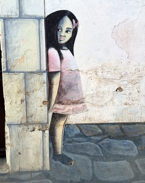 Wandmalerei in den Straßen von Quetzaltenango (Xela)