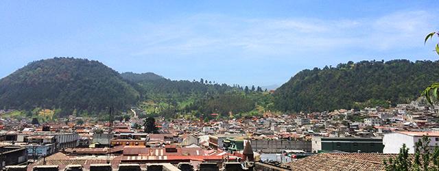 Blick über Quetzaltenango (Xela), Guatemala