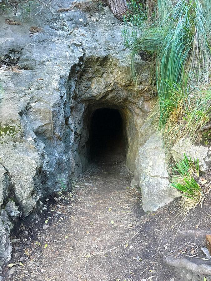 Eingang zur Höhle Avenc de Son Pou, Mallorca
