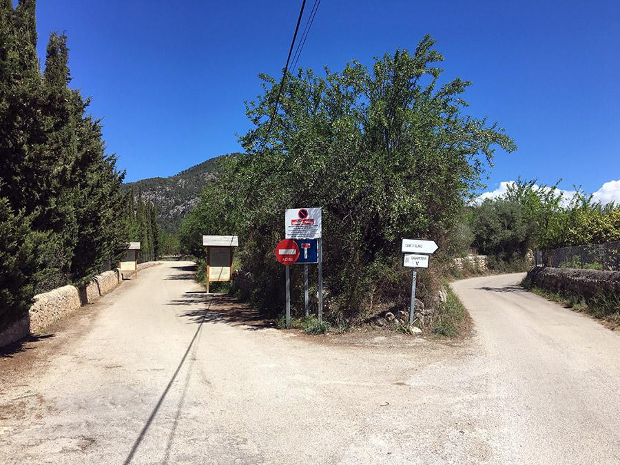 Weg ins Tal des Torrent de Coanegra , Mallorca