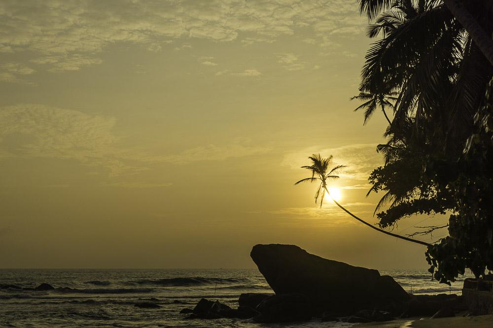Der Strand von Dalawella in der Nähe von Unawatuna, Sri Lanka