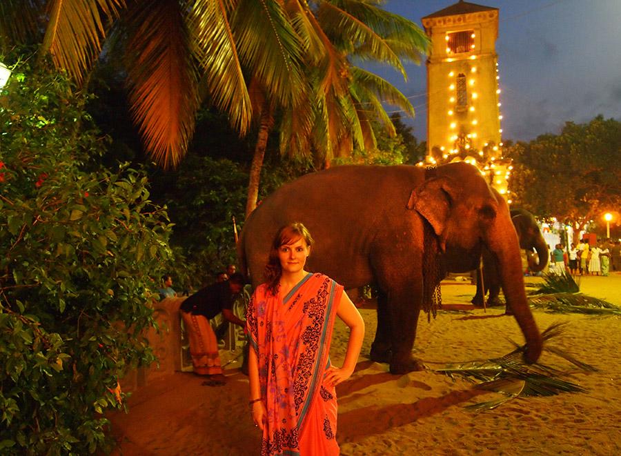Das Poya Fest in Colombo, Sri Lanka