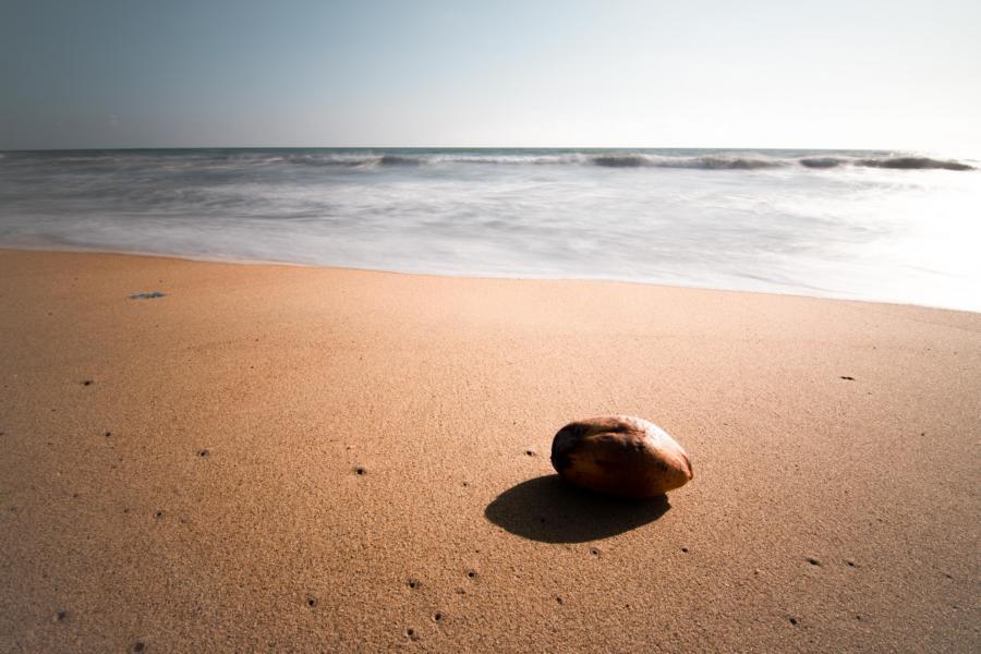 Der Strand von Kalutara, Sri Lanka