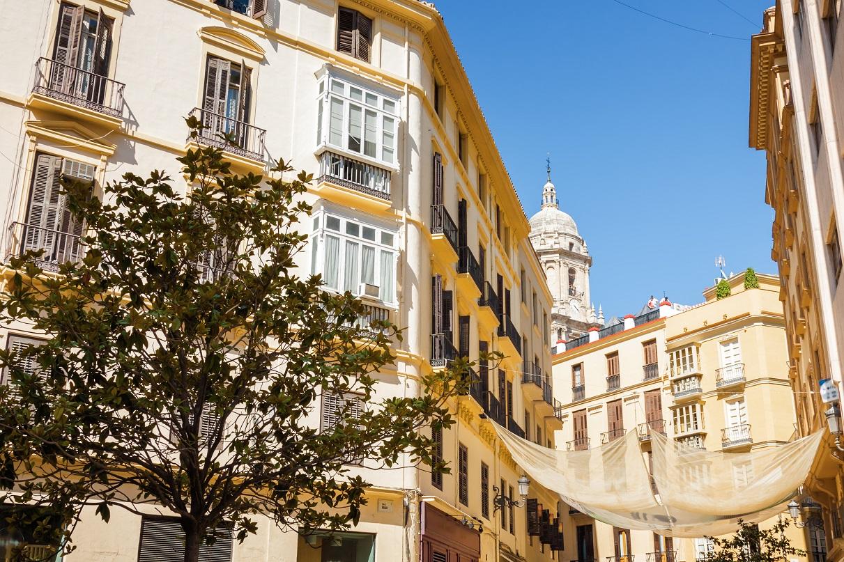 Die Straßen von Malaga, Spanien