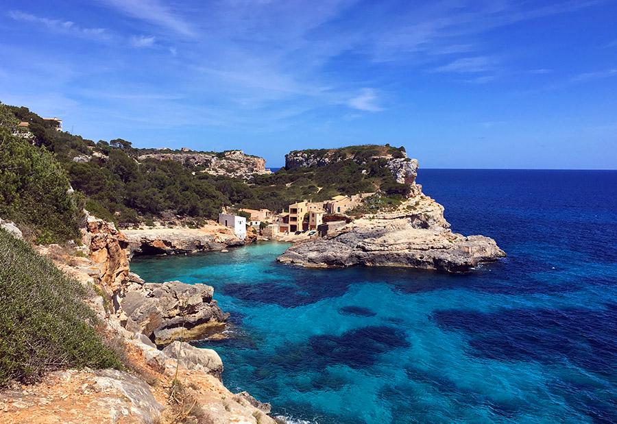 Die Cala S'Almonia an der Ostküste von Mallorca