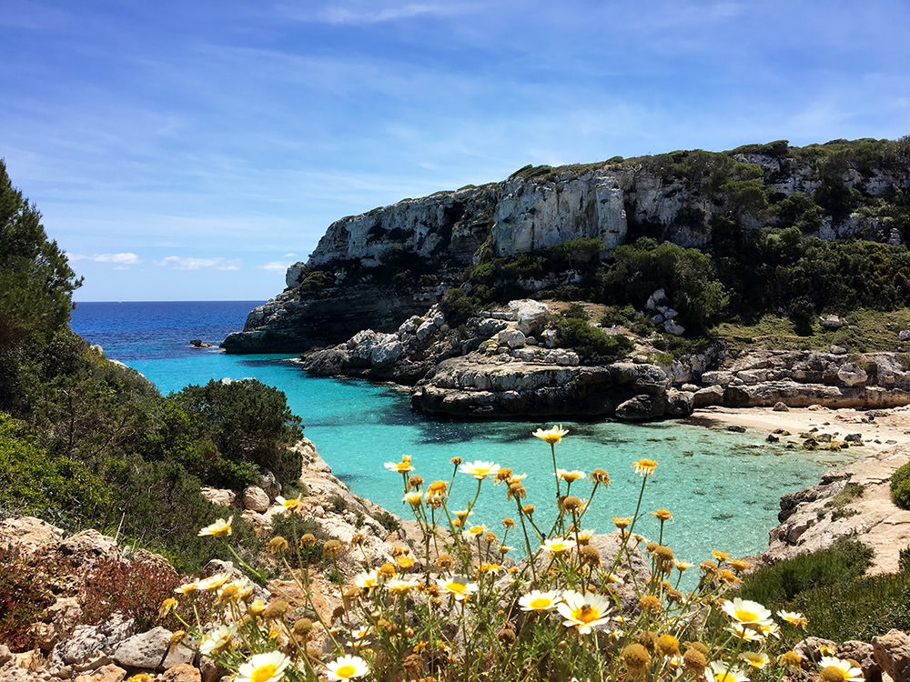 Die Marmorbucht Calo des Marmols an der Ostküste von Mallorca