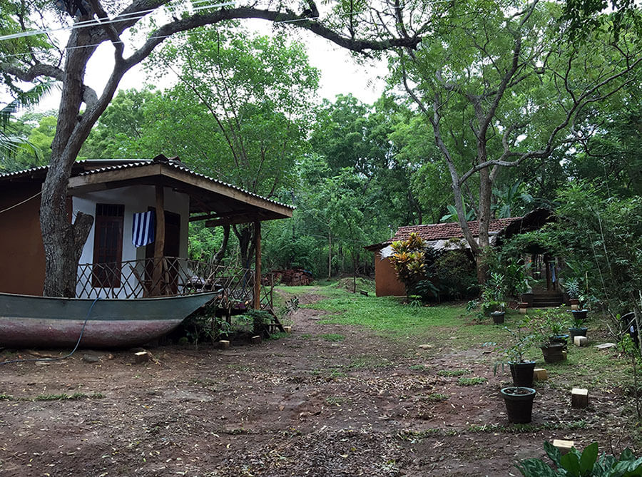 Sri Lanka Unterkunft Thatched Villa am Amanwella Beach bei Tangalle