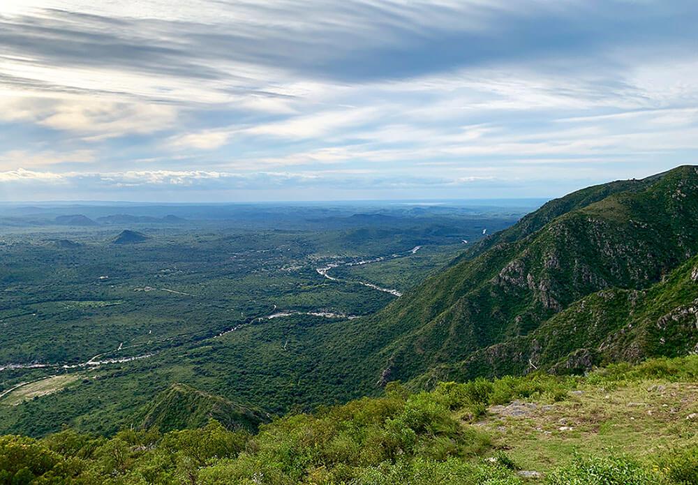 Der Aussichtspunkt Cuchi Corral bei La Cumbre, Argentinien