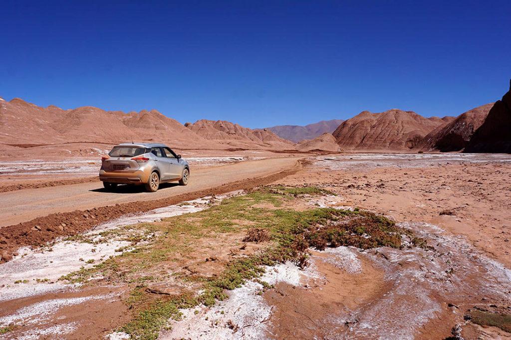 Mit dem Mietwagen auf eigene Faust durch den Norden von Argentinien - im Desierto del Diablo bei Tolar Grande