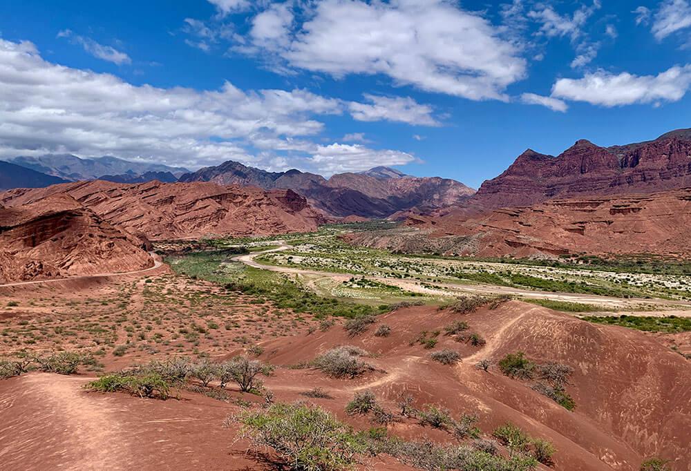 Die Quebrada de Cafayate im Norden von Argentinien wird auch Quebrada de las Conchas genannt