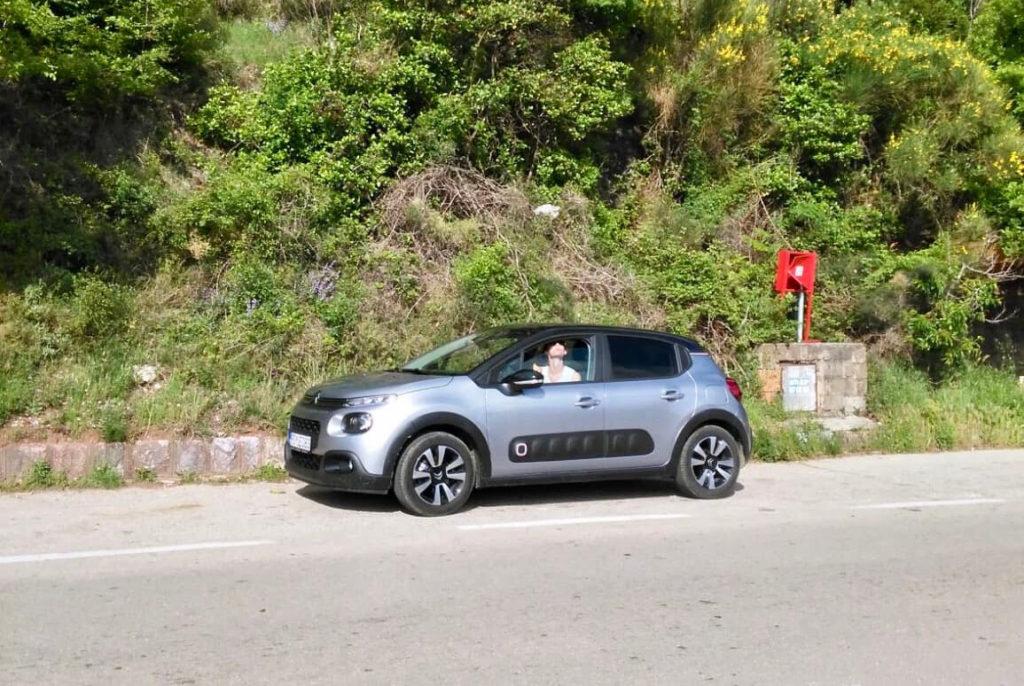 Unser Mietwagen in Montenegro