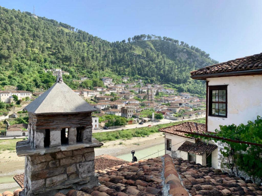 Aussicht aus dem Zimmer im Hani i Xheblatit in Berat